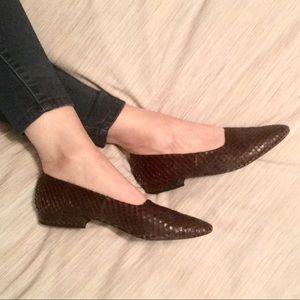 Christiane Perez Python Loafers